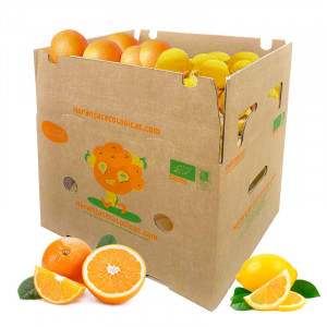 Caja 15 Kg Naranjas Mesa y Limones